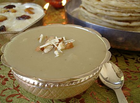 Badam Halwa is a melt-in-the-mouth creamy delight prepared with almonds, sugar, milk and ghee. - Gluten Free