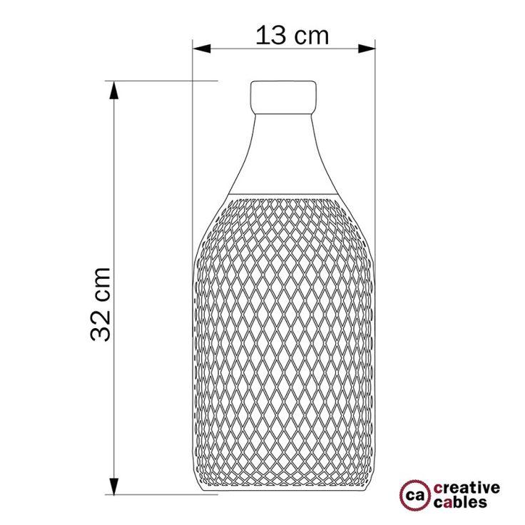 Abat-jour cage bouteille Jéroboam en métal couleur Noir