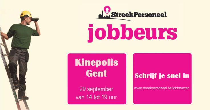 Op zoek naar een job in uw buurt? Carrièreadvies nodig? Breng dan zeker een bezoek aan de jobbeurs van Streekpersoneel in Kinepolis Gent op 29 september van 14u tot 19u. Ontmoet tal van werkgevers uit de regio en maak kans op een Citytrip Deluxe!