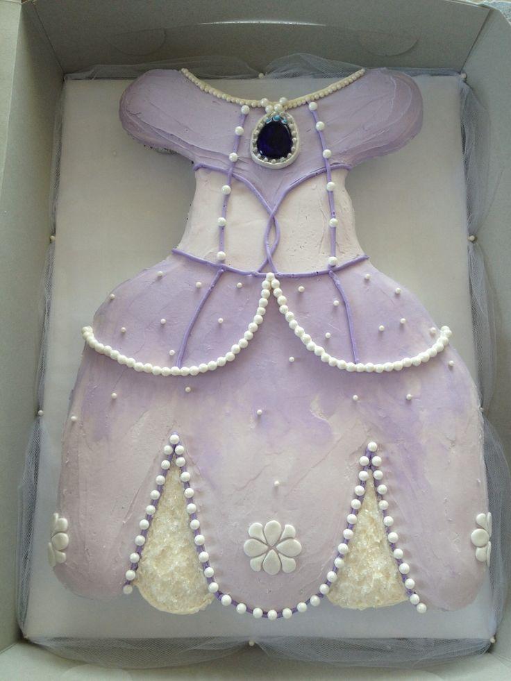 Princess Sofia the first pull apart cupcake cake dress.