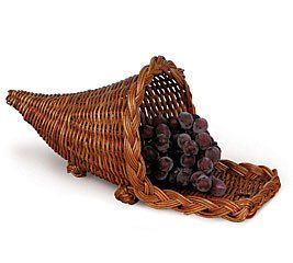 Cornucopia Shape Rattan Basket For Home Decor and Crafts