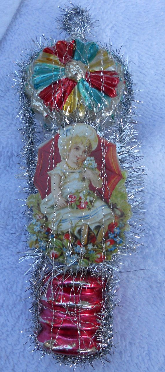 Dresden Wire Wrapped Victorian Christmas Ornament