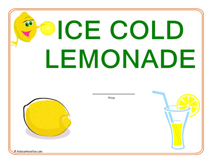 Lemonade Stand Sign | Lemonade - 39.4KB