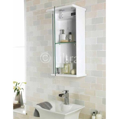 A Gloss White Mirror Cabinet That Is Small Enough To Fit In Lots Of  Bathrooms But Large Enough To Store All Your Bathroom Necessities.