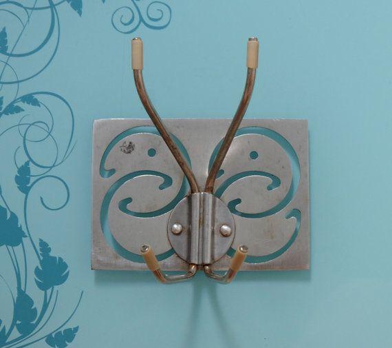 Folding rack vintage folding hooks butterfly wall by MadeInTheUSSR