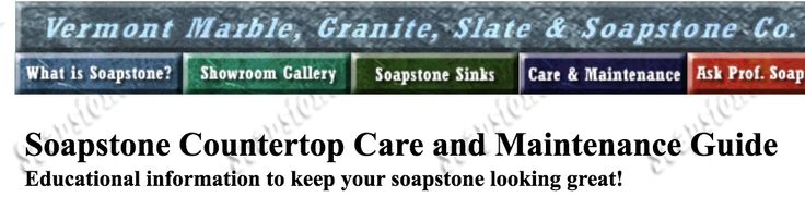 How to clean Soapstone