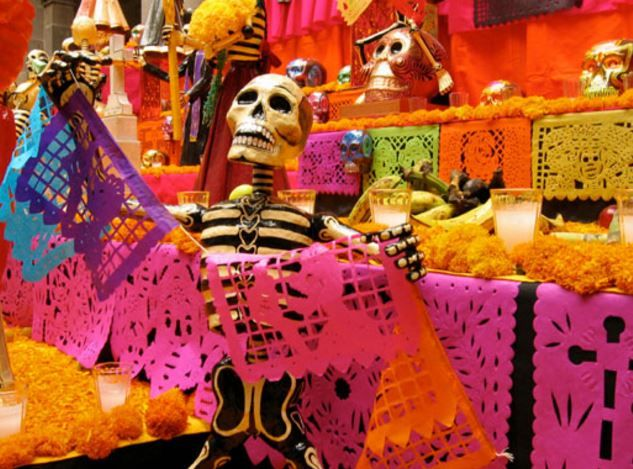 dayofthedead colourful skeleton