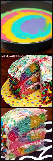 Hugs & CookiesXOXO: TIE DYE CAKE-WOWIE WOW WOW!