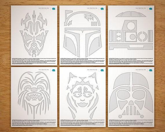 Printable Pumpkin Carving Pattern: Star Wars by PrintedPig on Etsy