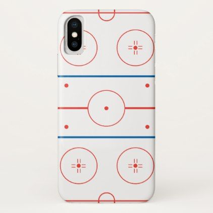 ice hockey rink graphic iPhone x case - winter gifts style special unique gift ideas