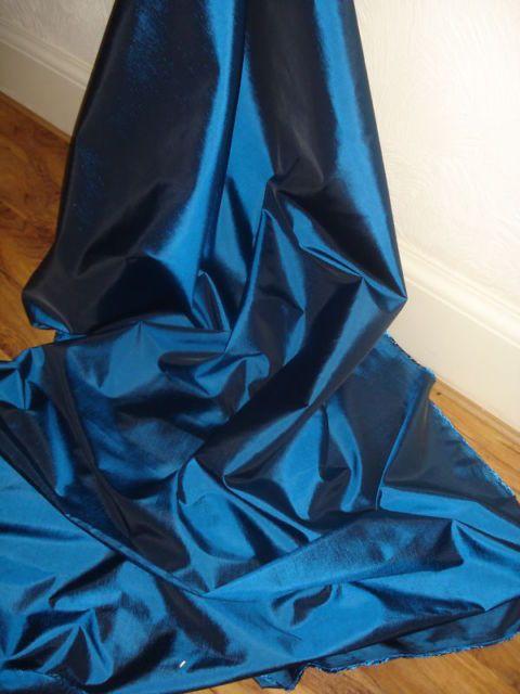 6M METALIC BLUE  TAFFETA  FABRIC 58  WIDE
