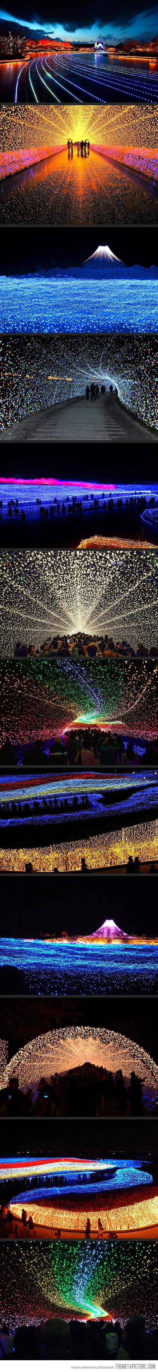 Japan's Winter Lights Festival… A little piece of my heart just exploded into ecstasy.