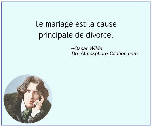 Le mariage est la cause principale de divorce.  Trouvez encore plus de citations et de dictons sur: http://www.atmosphere-citation.com/populaires/le-mariage-est-la-cause-principale-de-divorce.html?