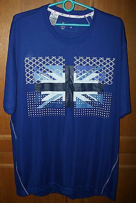 #Adidas mens #t-shirt team gb london 2012 olympics size xl #chest 46''48'' blue,  View more on the LINK: http://www.zeppy.io/product/gb/2/201639398099/