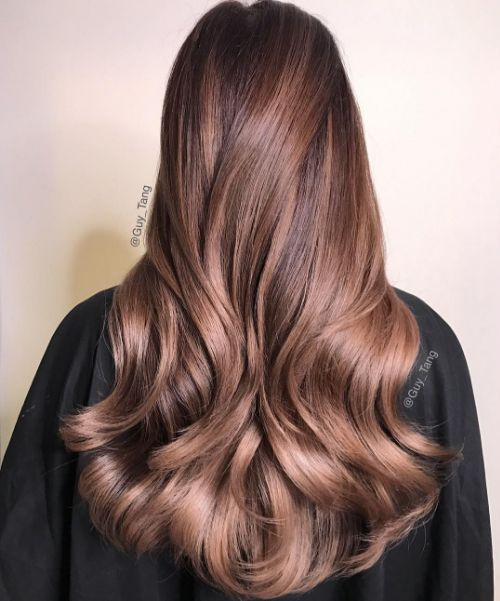 Chocolate Rose is what we all this   hair by Guy Tang, model Cassey Ho
