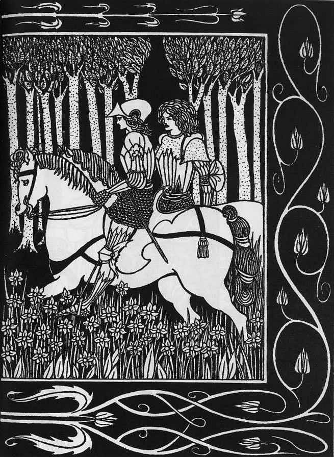 How King Mark and Sir Dinadan Heard Sir Palomides II - Aubrey Beardsley