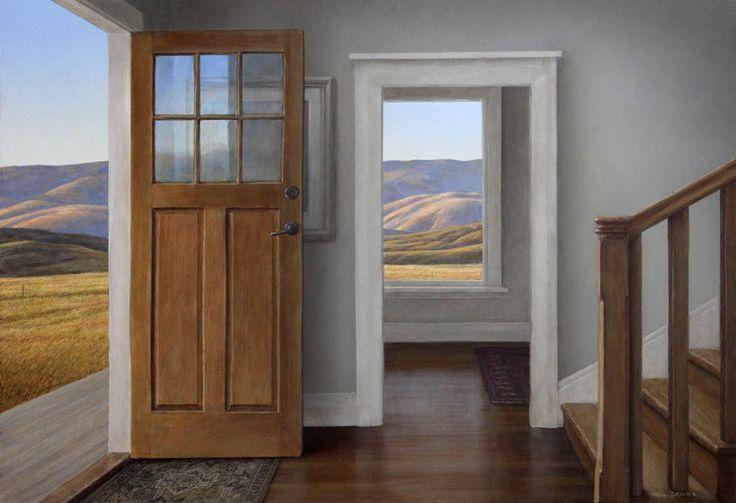Parnell Gallery artist Neil Driver Opened Front Door http://www.parnellgallery.co.nz/artworks/artist-neil-driver/opened-front-door/