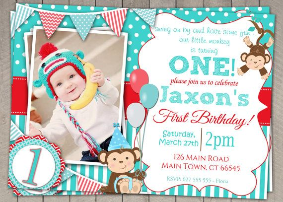 47 best boys first birthday invitation images on pinterest 1st boys blue and red monkey 1st birthday invitation printable download first birthday monkey invitation invites blue red bunting filmwisefo Image collections