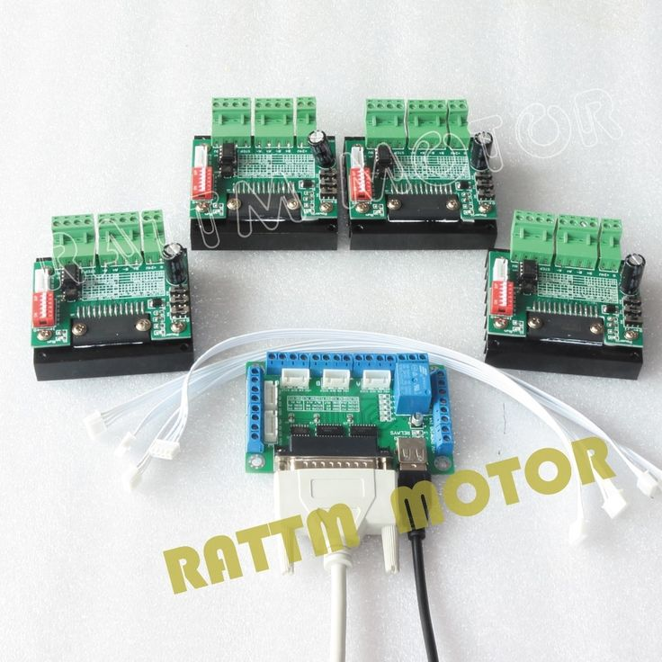 (47.96$)  Watch now  - 4PCS 3.5A TB6560 Single Axis CNC Stepper Motor Driver 16 Microstep & 5 axis CNC Breakout board interface V5 type MACH/EMC2/KCAM4