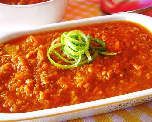Cómo hacer salsa boloñesa con pimiento rojo