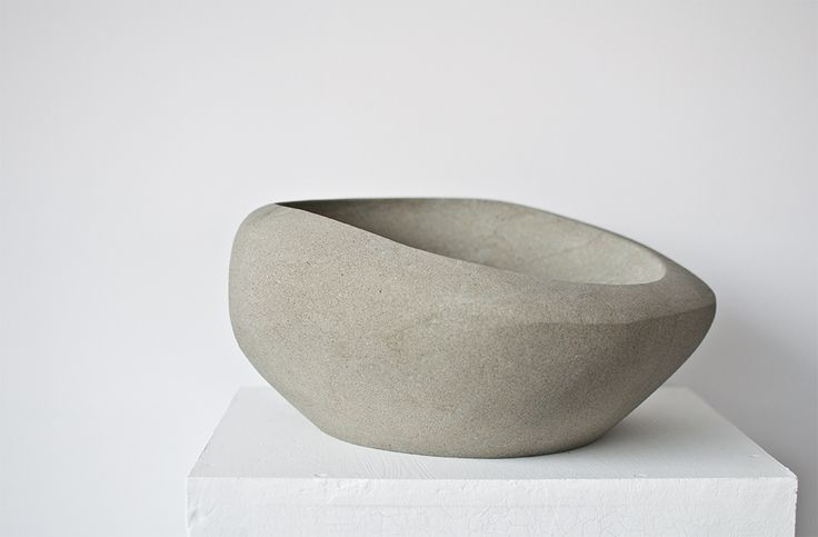 Hand made sandstone bowl no. 006 Dimentions: 36x31x17 cm, weight:18,6 kg.