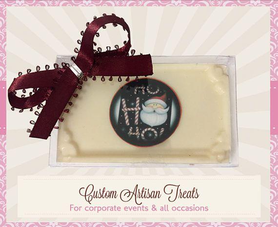 Santa Claus  Chocolate Card & Edible Image  #papergoods @EtsyMktgTool http://etsy.me/2j8Vsr8 #thankyouchocolates #chocolatecards