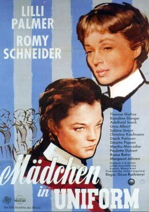 """CINE(EDU)-998(2). Corrupción en el internado. Dir. Géza von Radványi. Drama. Alemaña do Oeste, 1954.  Remake dun clásico do cinema alemán """"Raparigas de uniforme"""" (1931), o primeiro filme que trataba abertamente o tema do  lesbianismo no cinema, pero nunha versión moito menos crítica e mordaz que esta. No ano 2006 en Hollywood realizouse outro  remake titulado """" Loving  Annabelle"""" http://kmelot.biblioteca.udc.es/record=b1654784~S1*gag"""