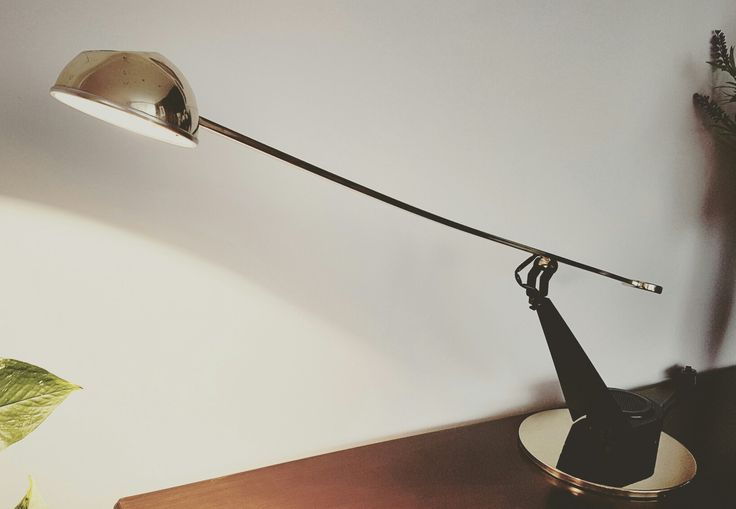 Fase lamp, 80's. Lámpara Fase halógena pendular, años 80.