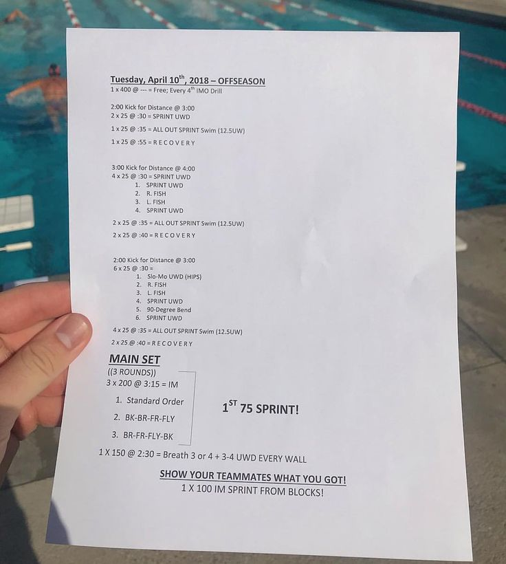 Pin By Creative Ideas On Swim Workouts (Intermediate