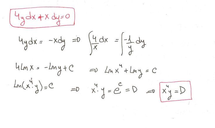 Solución del ejercicio 13 Ecuaciones diferenciales de variables separadas