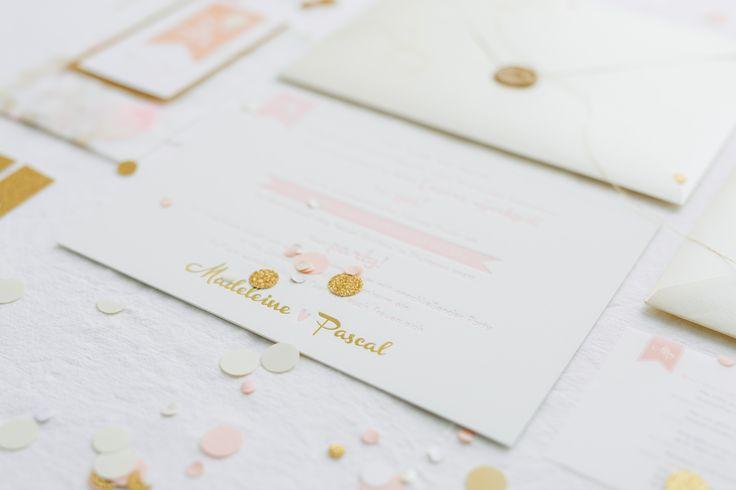 wedding suite rose blush gold Hochzeitspapeterie on rosé und gold