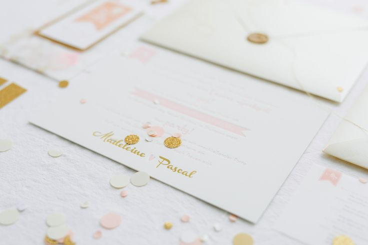 wedding suite rose blush gold Hochzeitspapeterie on rosé und gold