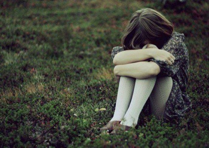 einsames mädchen trauriges bild