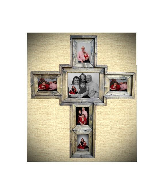 how to make a cross picture frame