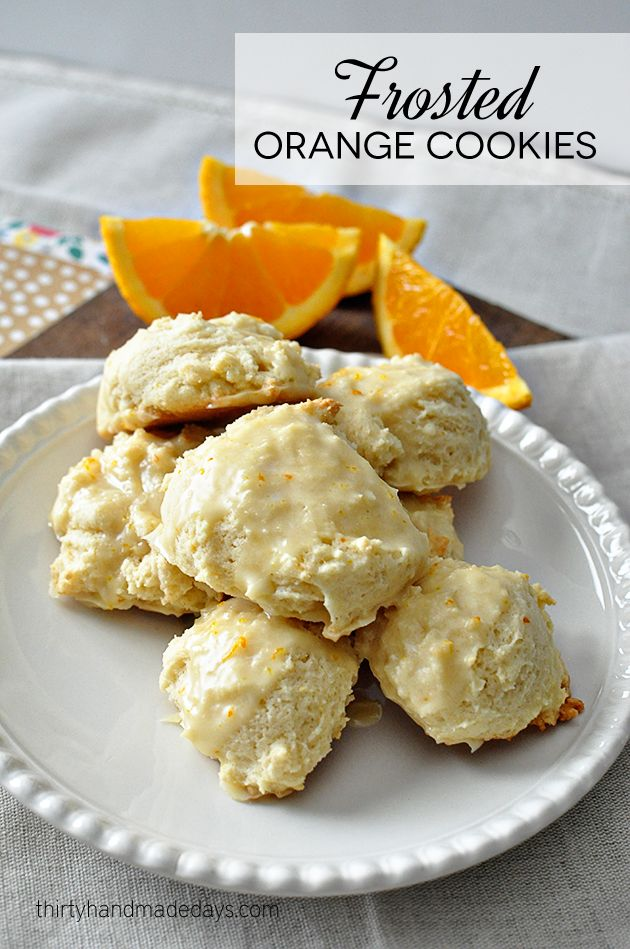 Super duper tasty Frosted Orange Cookies - a family favorite for years and years! Love this cookie recipe!