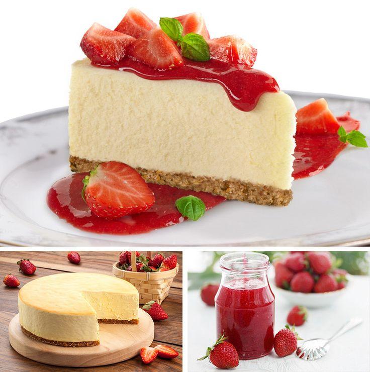 Strawberry Vegan Cheesecake (Dairy Free) #cheesecake