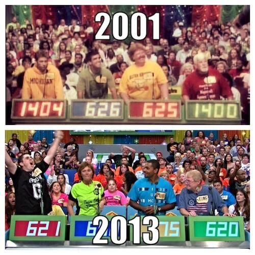 The Price Is Right (PriceIsRight) on Twitter - #ThrowBackThursday #NowAndThen #ThenAndNow #2001 #2013 #PriceIsRight