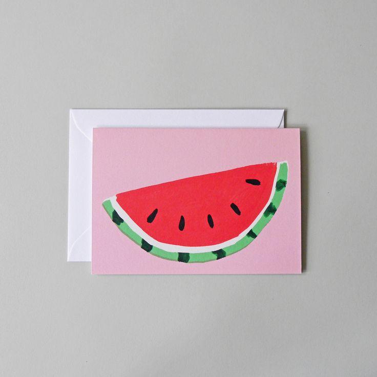 Watermelon Greetings Card