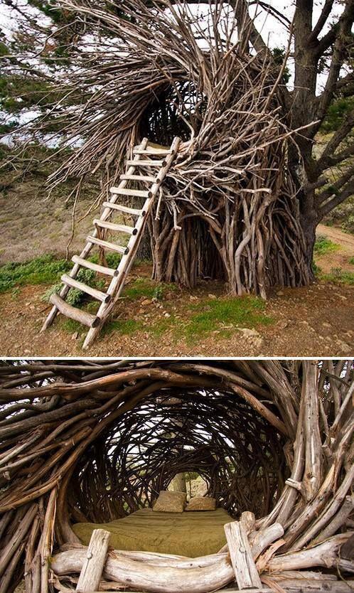 Twig hut