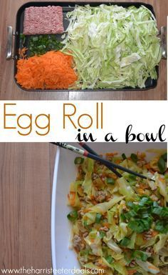 @teeterdeals  Easy Asian meal, Egg Roll in a Bowl! Full of flavor and low carb, using cabbage, and ground pork.
