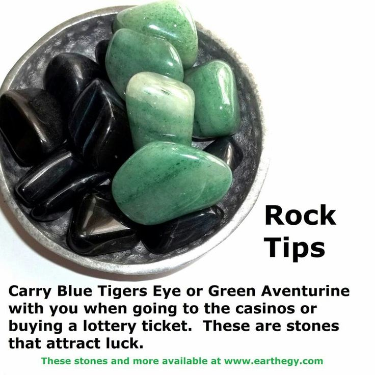 Crystals for Luck: blue tigers eye, green adventurine