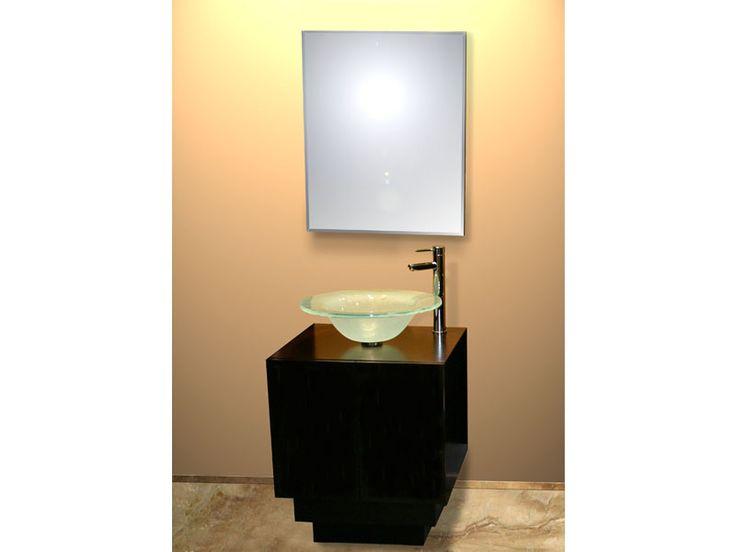 Glass Sink with Wood Vanity - Sintesi Vanity #decor #interior #interiordesign #homedesign #homestyle #homewares #interiorinspiration #cbdglass
