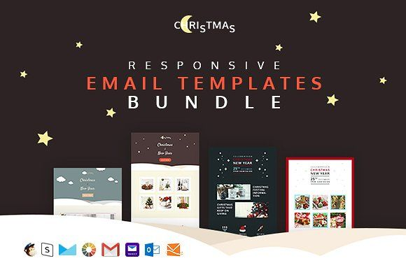 Christmas — 4 holiday email+builder by ThemesCode on @creativemarket