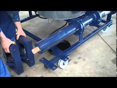 Brikettpresse KOM 4000 / Pressmatrize ausbauen