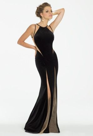 Velvet Illusion Dress with Open Back from Camille La Vie and Group USA
