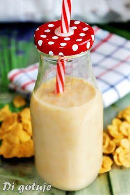 Di gotuje: Śniadaniowy koktajl bananowy z płatkami kukurydzia...