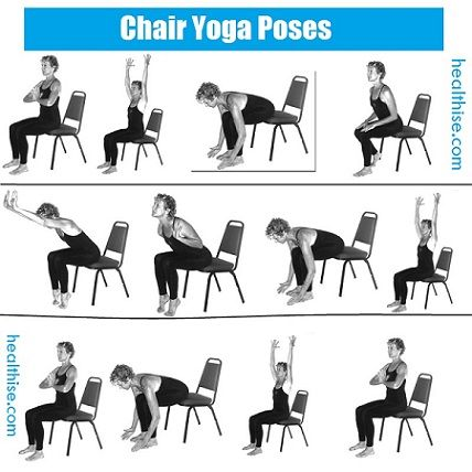 17 Best ideas about Chair Yoga Poses on Pinterest