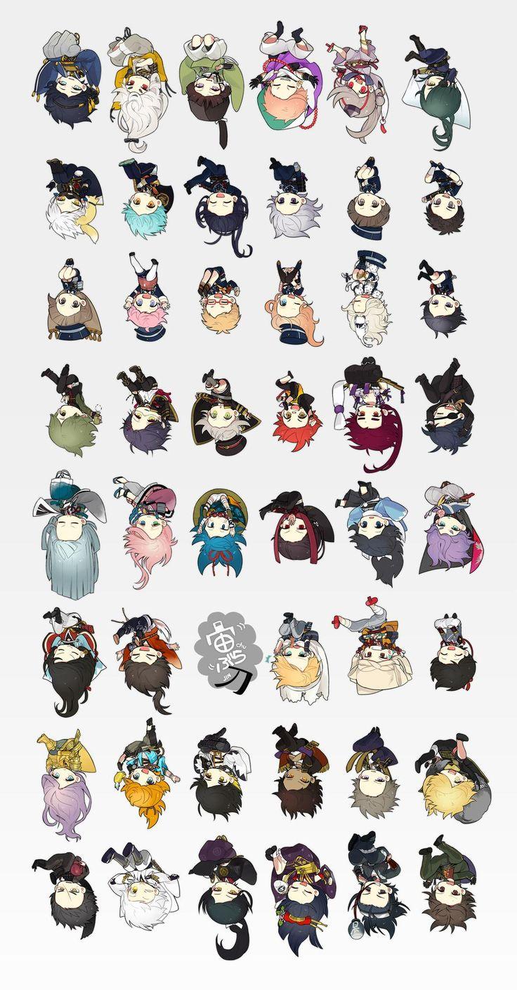 Touken Ranbu | TouRanbu | all characters | chibis