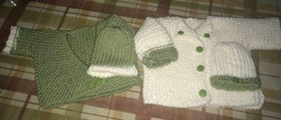 Conjuntos para bebé tejidos en telar por Linda