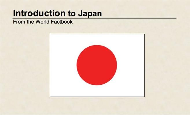 <p>Use this guide from the <em>World Factbook</em> to explore the background, geography, and people of Japan.</p>